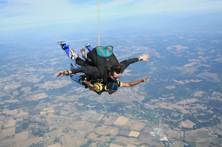 Skydive in 2012 in Portland, Oregon