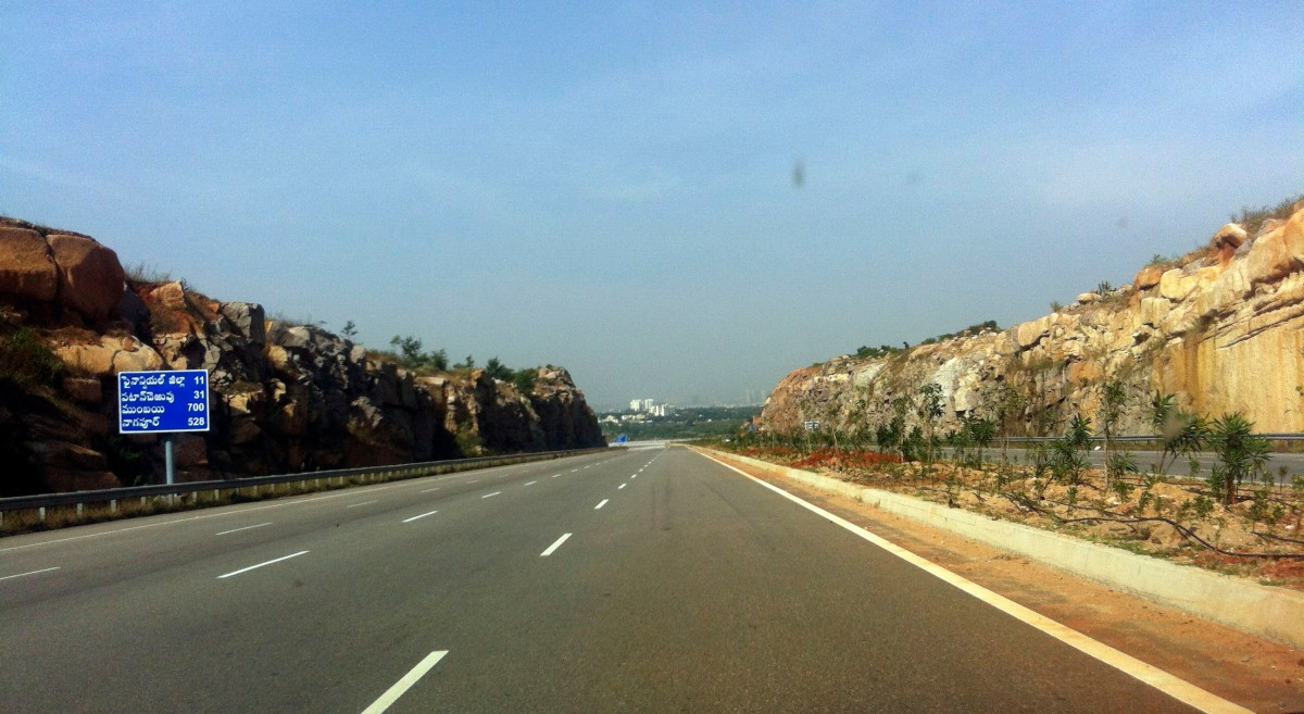 Driving on Hyderabad Outer Ring Road