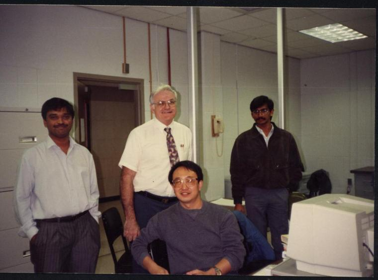 with Dr King, head of Computer Science Department