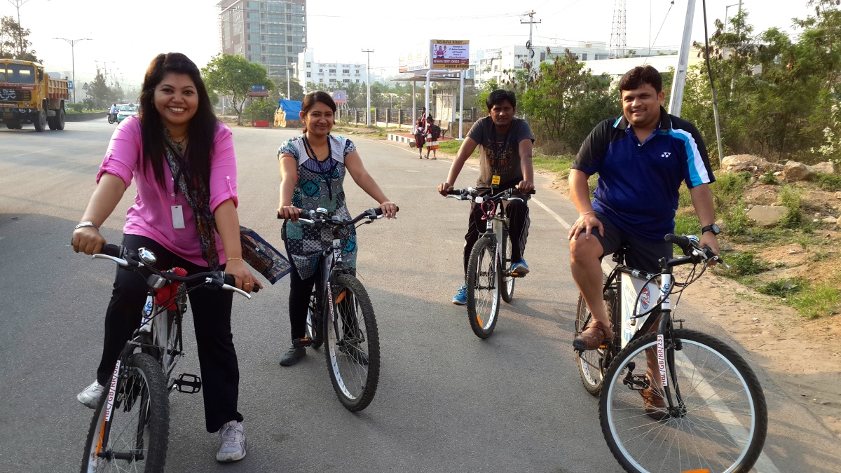 Bicycle Ride around HiTech City