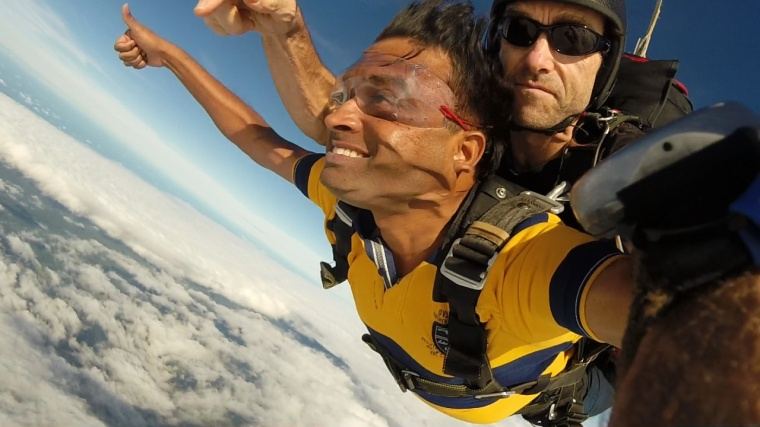 Sky Diving along with Revanth near Great Barrier