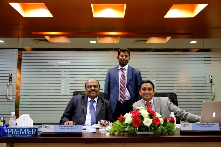 CEO and CTO with MD Mr. Subramanyam