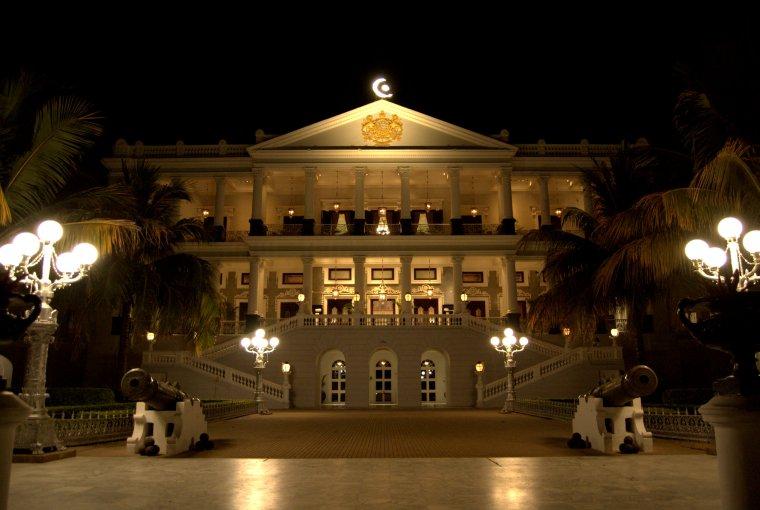 Palace at night time