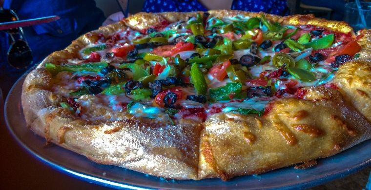 Delicious Pizza @ Mellow Mushroom Pizzeria in Blowing Rock, NC