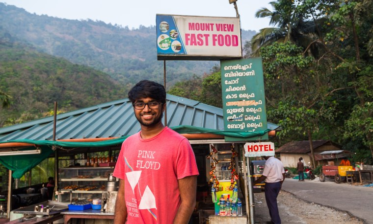 Chai @ Lakkidi Pass. Only in India, you would find a chai point at hair pin bend